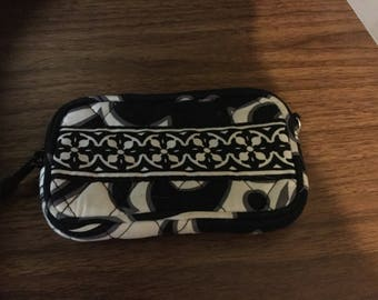 Mini wallet. Vintage in black and white.