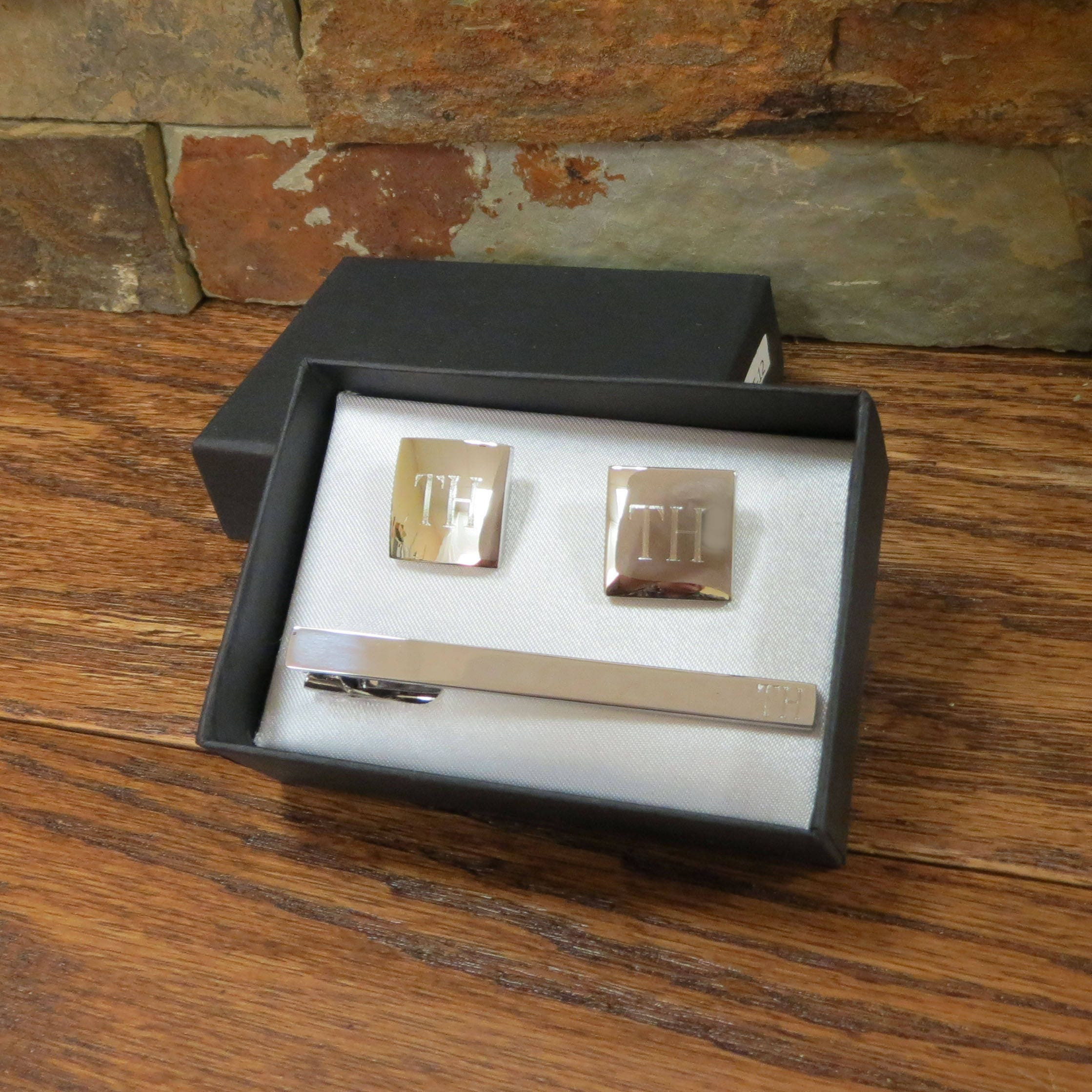 Personalized Tie Clip With Cuff Links