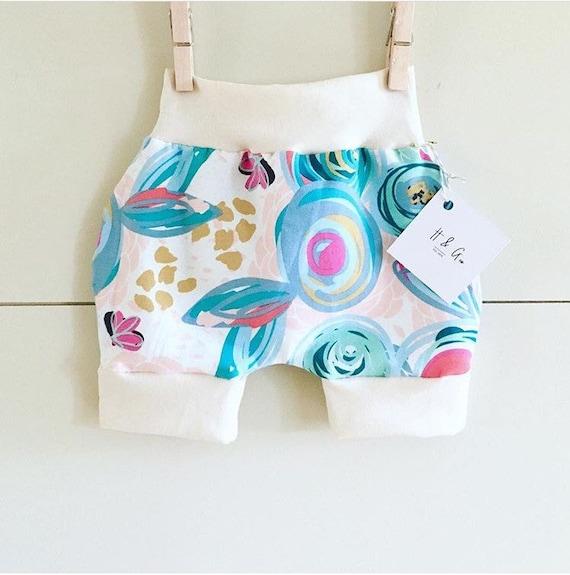 Handmade Hipster Baby Shorts | Baby Shorts | Baby Harems | Harem Shorts | Baby Girl Shorts | Floral Print Shorts