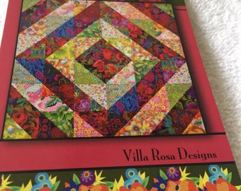"""Paper pattern for a quilt called Tower Bridge by Villa Rosa Designs 54"""" square"""