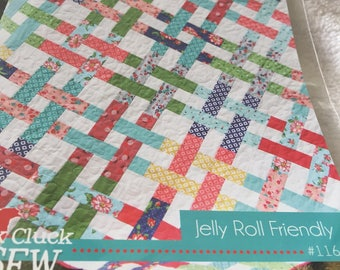 Paper Pattern for a Quilt called Basket Case designed by Cluck, Cluck Sew in five sizes