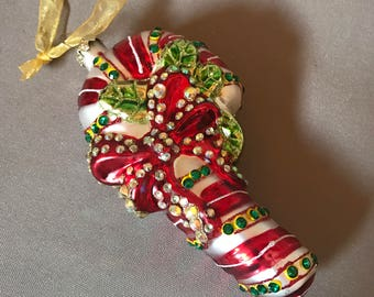 Vintage Christmas Ornament Candy Cane, Heirloom