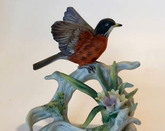 Lefton Bird Figurine / Vintage Hummingbird Figurine Made in Japan Lefton KW440
