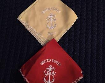 Vintage United States Navy Hanky