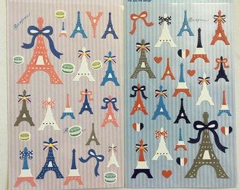 Japanese/ Korean Paper Stickers (Pick 1) - Eiffel Tower