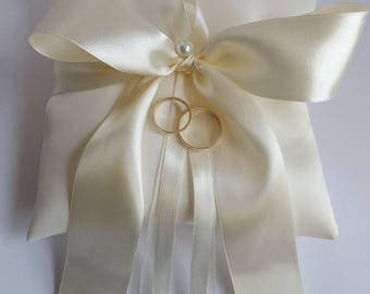 IVORY Wedding Ring Pillow - Ring Bearer Pillows - White, Diamond, Ivories