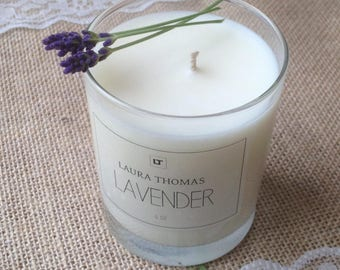 Lavender Essential Oil Candle Aromatherapy