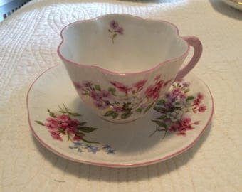 Vintage Shelley bone China cup and saucer