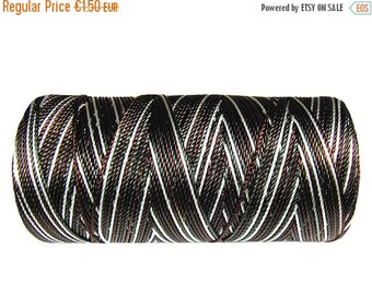 ON SALE 15 Meters Macrame Cord - Nylon Cord Multicolor (not waxed) - Crochet Thread - Dark Brown