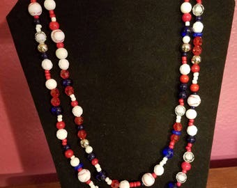 Texas Rangers Wrap Necklace
