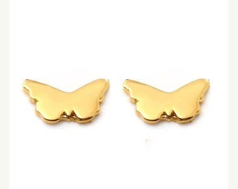 ON SALE BUTTERFLY Petite Stud Earrings