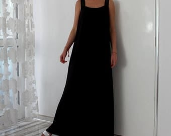 SALE ON 20 % OFF Black Maxi dress/ sleeveless dress/ Long maxi dress / Summer dress / Plus size dress /Party dress/ Summer dress/ Sundress/