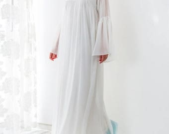 SALE ON 20 % OFF White Maxi Dress/ Chiffon dress/ Caftan/ Plus size dress/ White dress/ Summer dress/ Formal dress/ Party dress/ Long dress