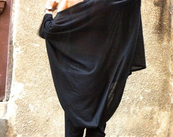 SALE NEW Black Cotton Tunic / Black Loose Blouse/ Tunic Top /  Loose sleeves / Casual Top by AAKASHA_A02170