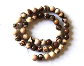 8 mm Australian Zebra Jasper  Round Beads