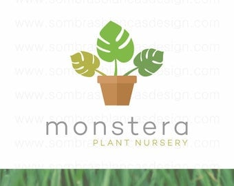 OOAK Premade Logo Design - Monstera Plant - Perfect for an interior design business or a plant nursery