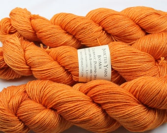 Pumpkin Spice BooMer sock yarn merino/bamboo fingering weight yarn