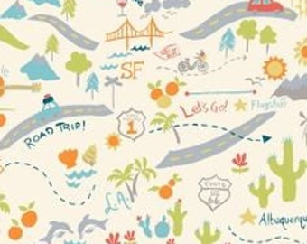 Birch Organic Fabrics Next Stop One Yard of Mapped