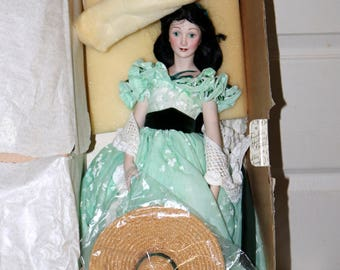 "50th Anniversary 1989 Gone with the Wind Doll - Vivien Leigh as ""Scarlett"" - Original Box - No COA - Excellent Condition"