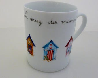 """Holiday"" porcelain mug"