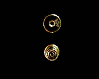 NEW! Vermeil Post Clutch Silicone Stopper 1 Pair 5.3mm Small Ear Nut Gold Vermeil Style