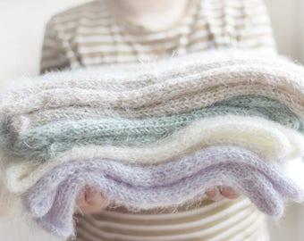 Newborn Wrap Feather Soft, Baby Wrap, Basket Stuffer, Neutral, Furry Layer, Newborn Photography Prop, Neutral colours, UK seller