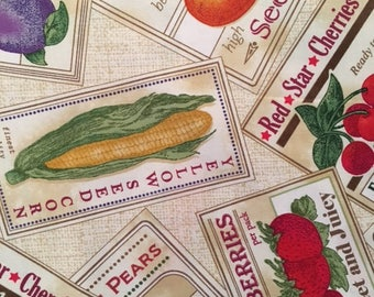 Seed Packets from Garden Variety by Quilting Treasures