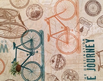 Bicycles (Color E) from Enjoy the Ride by J Wecker-Frisch for Quilting Treasures
