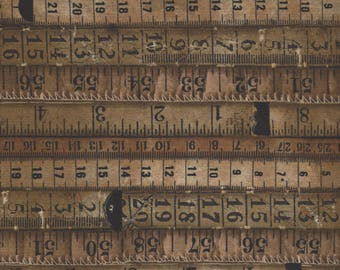 Tape Measures in Neutral from Dapper by Tim Holtz