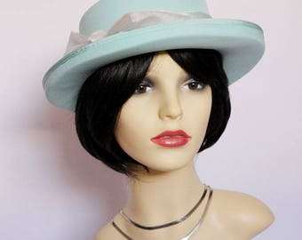 Vintage classic formal hat/Ascot, races,church, mother of the bride, Made in England by Kangol