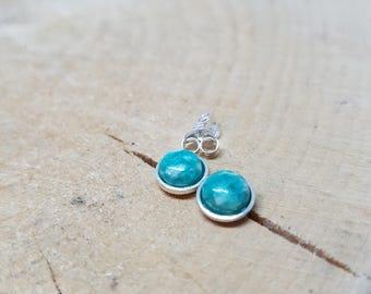 Amazonite Earrings Gemstone Earrings Sterling Silver Earrings Birthstone Earrings