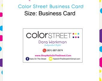 Color Street Business Card #1 --Custom Digital Download