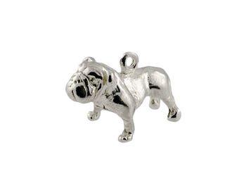 Sterling Silver British Bull Dog Charm For Bracelets