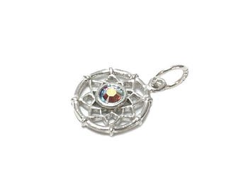 Sterling Silver Dreamcatcher Birthstone October Charm For Bracelets