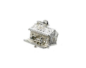 Sterling Silver Moving Train In Station Charm For Bracelets