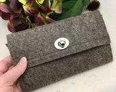 Grey Brindle Felt Wallet