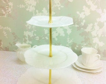 """Vintage 3 Tier  Cake Stand, Shelley """" Dainty """""""
