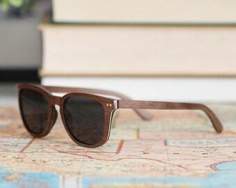 Men's Sunglasses, Men's Wood Sunglasses, Polarized Lenses, Gift Idea For Men - ALP-W