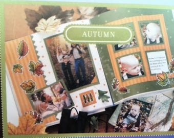 NEW (2003) Close to My Heart Autumn Scrapbook Kit Level 1 Plus Page Protectors 7004A,