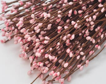 50 pc- Pip Berry Branch- Pip Berry Stems ** PINK ** Pip Berry Garland stem-Hair Accessory- Headband Twig halo- Circlet- US Seller