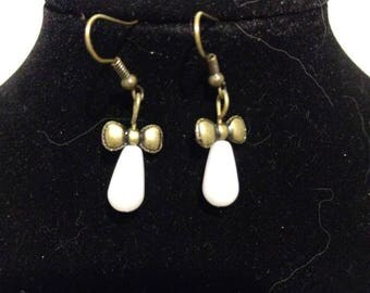 Victorian Pemberly Pearl Drop Earrings