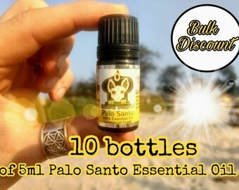 Palo Santo Essential Oil, Sustainably Sourced, TEN *5ml bottles, bulk discount, special offer