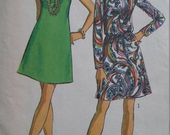 Vintage Simplicity 8181 Sewing Pattern Jiffy Dress