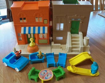 Vintage CBS 1984 Sesame Street 123 HOOPER'S STORE Child Guidance Play Set~Lot