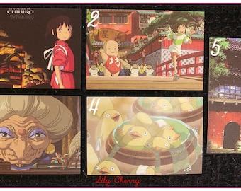 "Mini Card ghibli totoro spirited away, ponyo mononoke arrietty kiki Asian ""model 2"" x 1"
