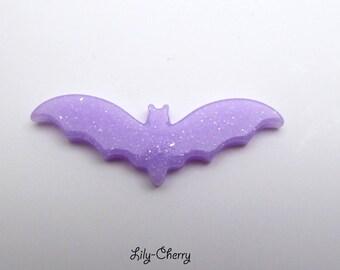 Cabochon bat applique mouse brilliant VIOLET light x 1