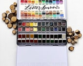 The Letter Sparrow 48 - handmade travel watercolor paints