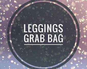 Leggings grab bag, pants, surprise fabrics, plaid, solids, stripes and more