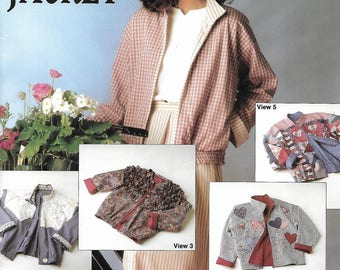 1990's Four Corners Jacket Sewing Pattern Booklet FC 100 Size 6-8-10-12-14-16-18-20-22 Uncut