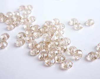 50 3mm swarovski crystal faceted beads